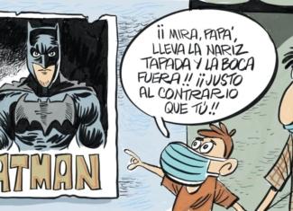 ¡La mascarilla de Batman no está homologada!