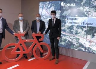 Así será la bicipista de Bizkaia