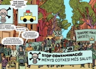 El cómic que dibuja una Barcelona más sostenible y saludable